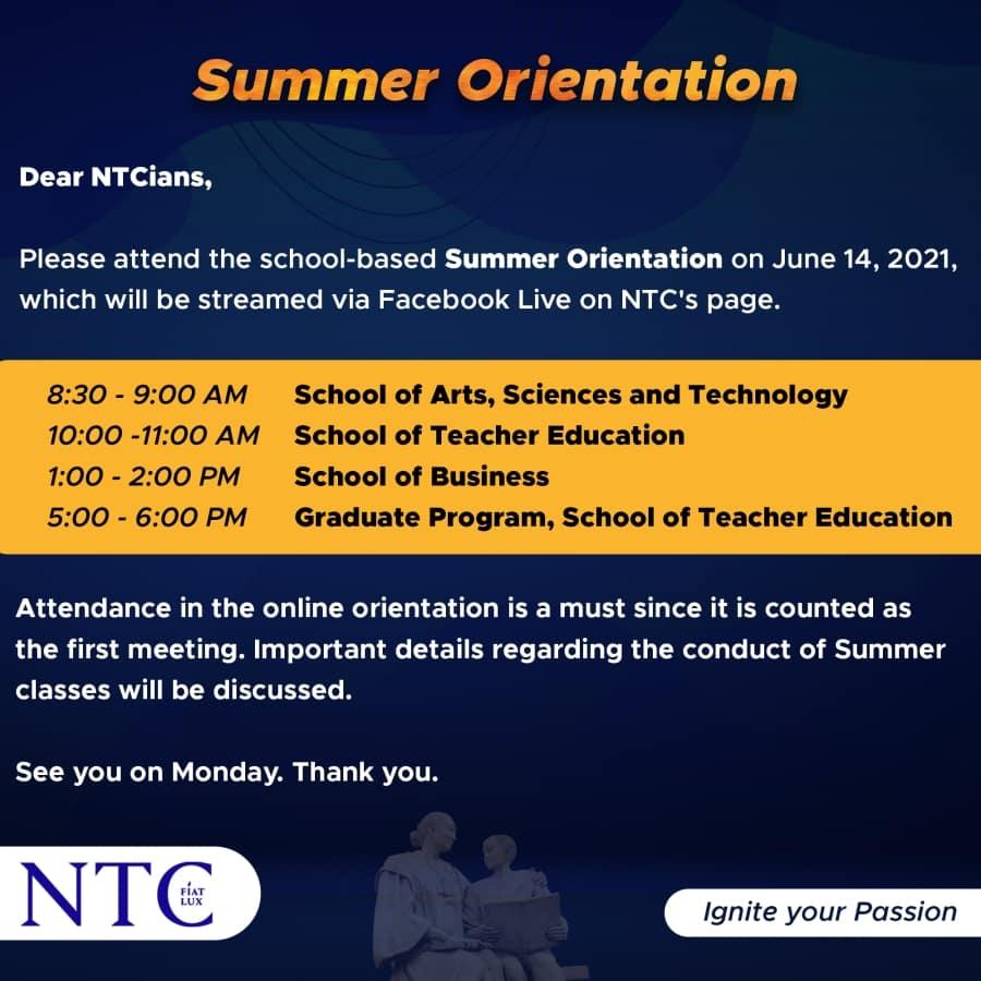 Summer Orientation