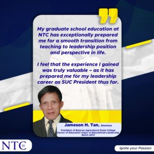 NTC cultivates Leaders in Education
