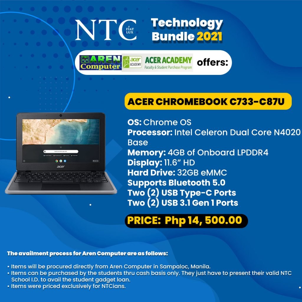 TECHNOLOGY BUNDLE EXCLUSIVE TO NTCIANS
