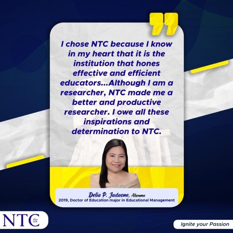 An Outstanding NTCian