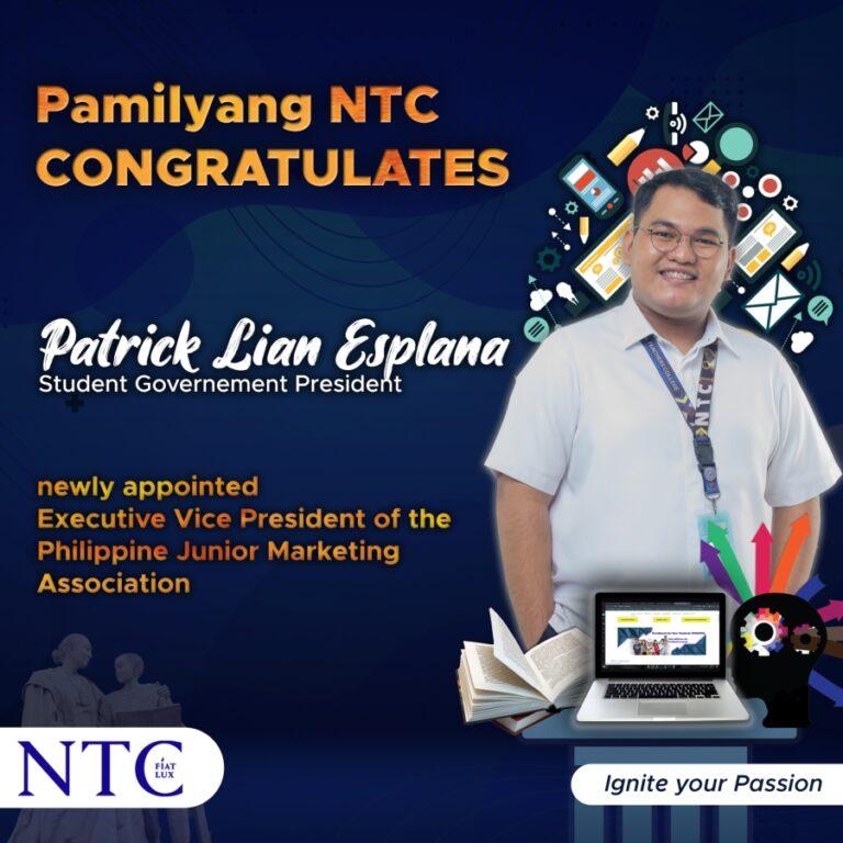 Congratulations! Patrick Lian Esplana