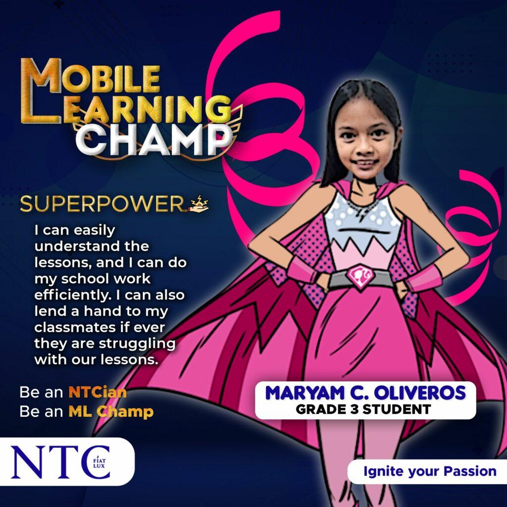 ML Champ: Maryam C. Oliveros