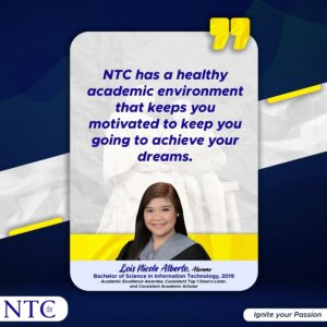 Lois' Certainty of NTC's Quality of Education